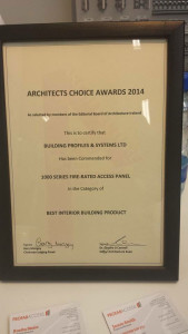 1000 series access panel wins Architechts Choice award at Archiexpo Dublin