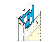 Protektor 1222 20mm PVC nosed stop bead for external render