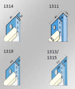 Image showing specifications of different shadow gap bead widths
