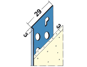 2136 3mm Thon Coat Stop Bead for plastering Ireland