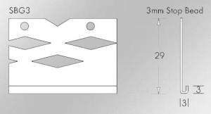 3mm galvanised thin coat stop bead