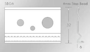 SBG6 6mm thin coat plaster stop bead
