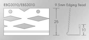 EGB3010 9.5mm Galvanised Edge Bead for Drywall