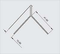 CB15 2 coat pvc angle bead dimensions