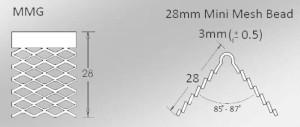 mini mesh internal corner plastering bead