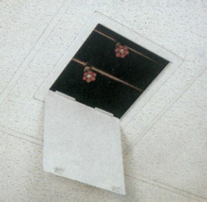 Profab Handi Access Panel in Fibreboard suspended ceiling