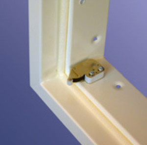 Profab 9000 series Sealed Clean Room Access Panels push catch details