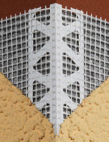 Protektor 3752 PVC corner profile with alkali mesh wing for rendering external insulation