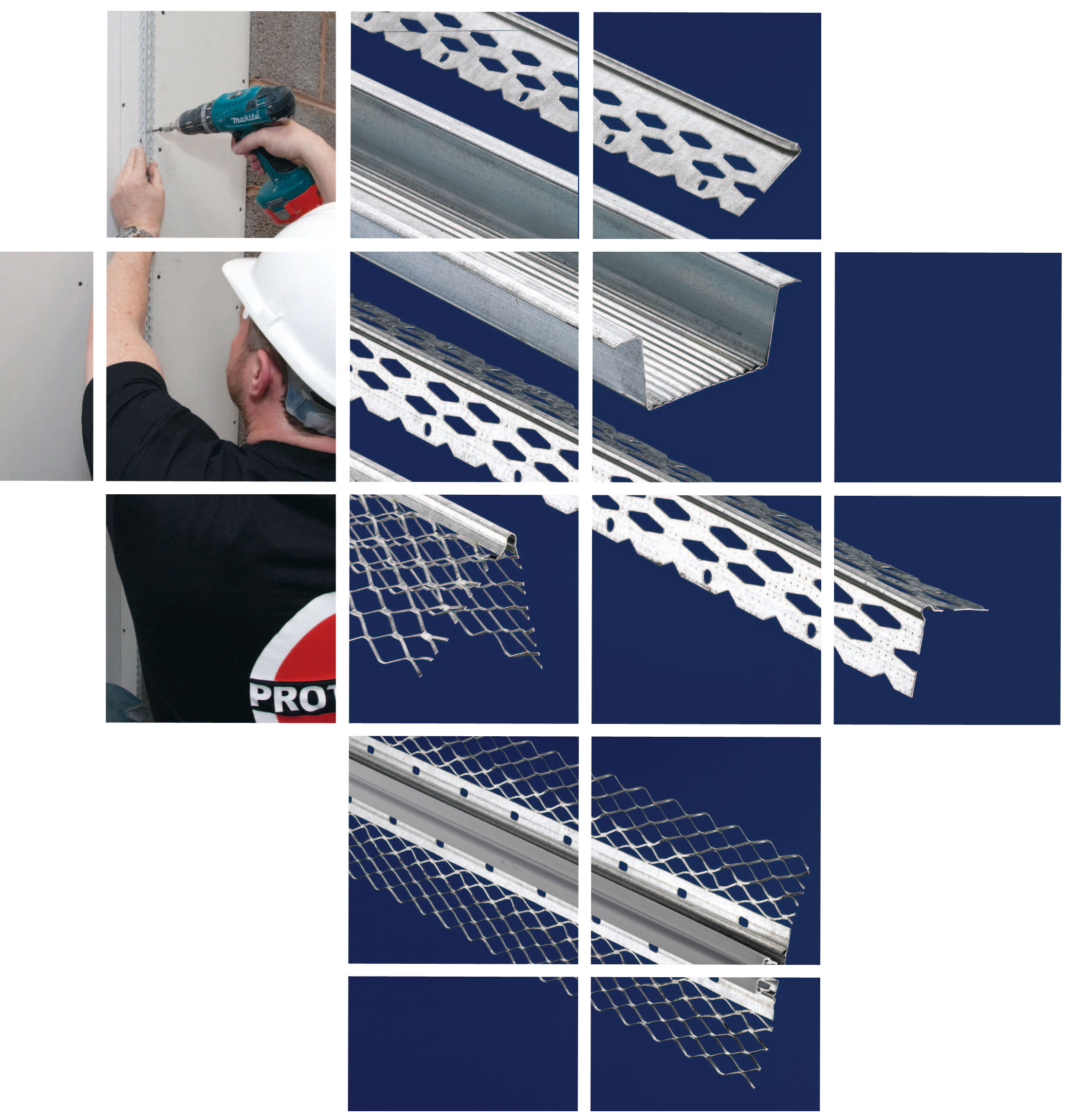 Protektor plaster beads and profiles for render and external insulation