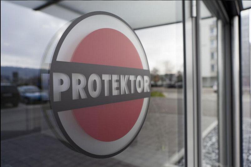 image of protektor logo on building profiles window