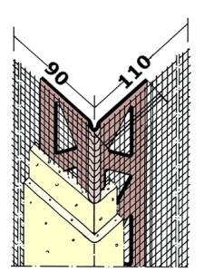 pvc corner beads mesh wing for thermal insulation composite system