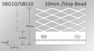 10mm galvanised stop bead specifications