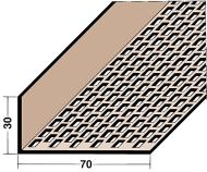 Protektor 3610 30mm x 70mm PVC Ventilation Profile